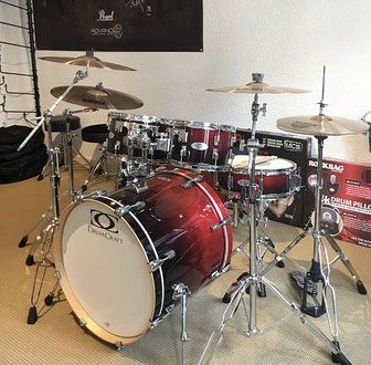 Drumcraft Drumset, winered faded, Schlagzeuges 75365 Calw