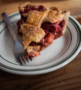 Rhabarber Erdbeer Pie