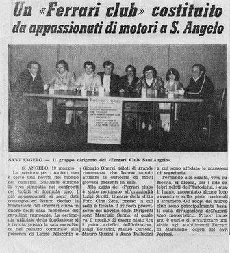 Maggio 1978: La nascita del nostro sodalizio