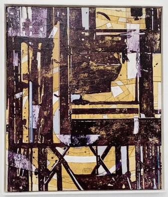 JAN MUCHE, OT,  2017-2018, Acryl und Tusche auf Leinwand, 60 x 50cm