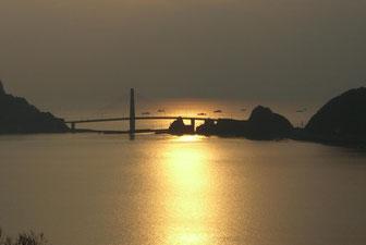 甑島 上甑島と中甑島繋ぐ橋