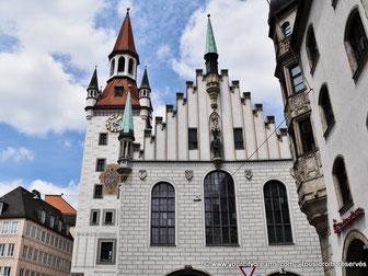 Ancien hôtel de ville de Munich sur la Marienplatz
