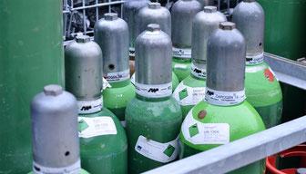 Gasflaschenlager