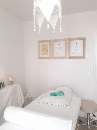 Praxis für Reiki und Wellness-Massage mit einer Massageliege