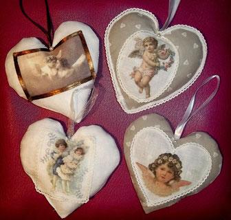 """Coeur photo """" Ange """" transfert sur tissu"""