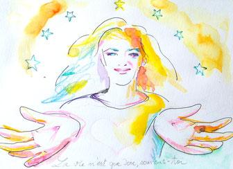 dessins éclairés, dessin intuitif, severine saint-maurice, lescerclesdelumiere.com