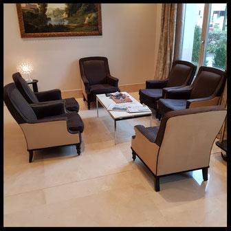 Hôtel Relais et spa réside études  Val d'Europe 260 chaises et fauteuils