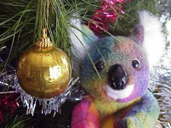 koala en árbol de navidad - vivir en australia
