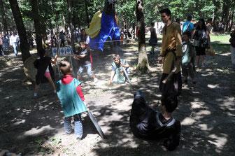 Apprentissage du maniement de l'épée