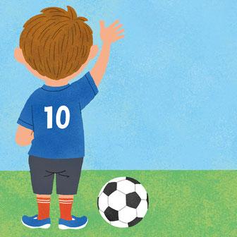 サッカー 男の子 イラスト