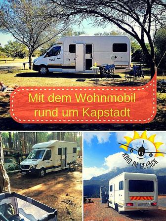 Mit dem Wohnmobil rund um Kapstadt unterwegs.