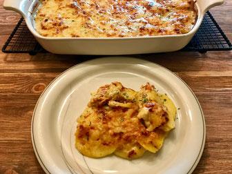 Kartoffel-Gratin aus dem Bäker, Ofenhexe, Stoneware rund oder Ofenmeister im Pampered Chef Onlineshop bestellen