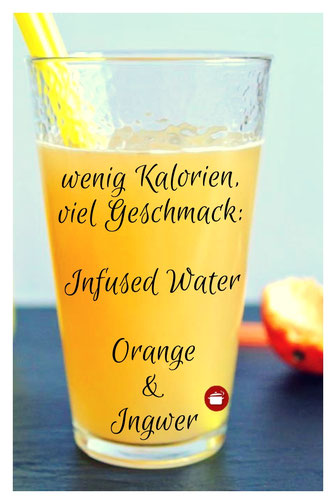 #Infusedwater #kalorien Orange-Ingwer