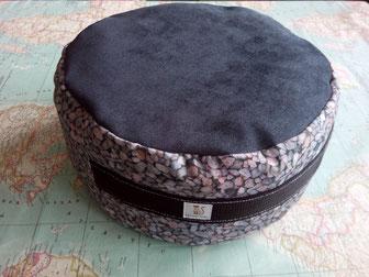 Zafú-cojín para meditación relleno de espelta ecológica esterilizada