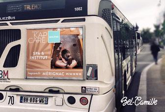 Publicité pour cul de bus, pour un SPA à Bordeaux