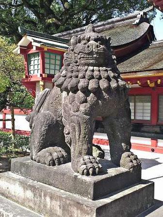 太宰府天満宮狛犬03(吽形)