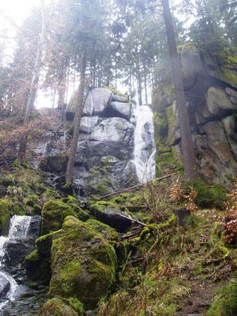 Der größte Wasserfall  in Sachsen