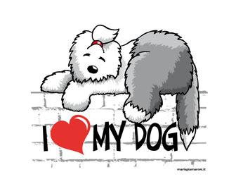 alt-img-disegno-bobtail-sdraiato-sul-muretto-che-dorme-illustrazione-old-english-sheepdog-tshirt-shopper