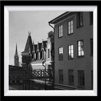 Stockholm Fotokunst schwarz-weiß