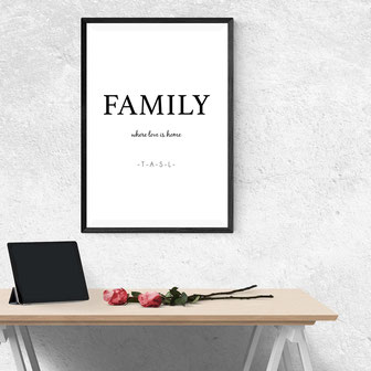 Family - where love is home - ab 7,99€