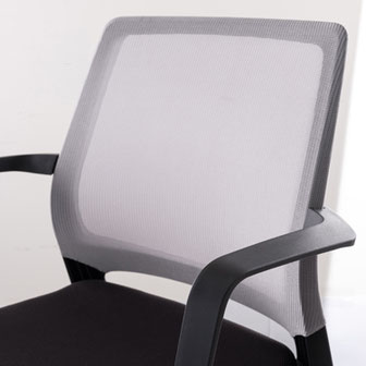 Comfordy Taiwan, simple office chair, Ru´dy, side chair, Besucherstuhl, Netz, Slim Polster, Armlehnen