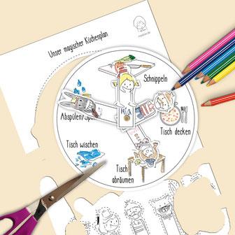 Küchen-Putzplan - Familien-WGs- gratis Vorlage