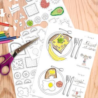 Gratis-Vorlage Essensplan für Familien und  Lieblingsrezepte
