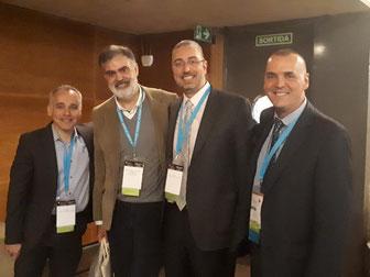 Los Drs. Fahandezh, Ferreira, Forcada y Palau de la SECMA.