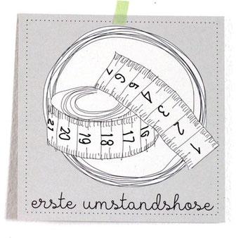 """Meilensteinkarte Schwangerschaft """"Umstandshose"""""""