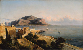 George Loring Brown: Monte Pellegrino at Palermo. [Public domain], via Wikimedia Commons