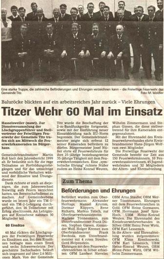 Jülicher Nachrichten vom 08.04.2000