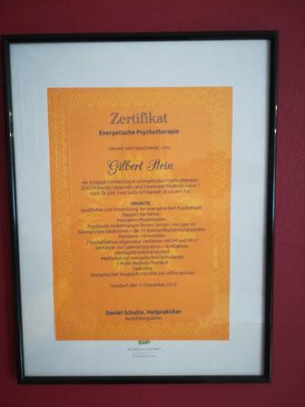 Zertifikat Energetische Psychotherapie
