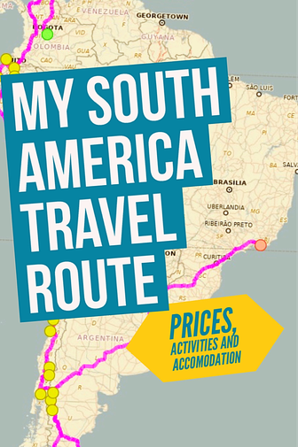 South America Travel Route