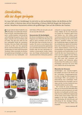 Neuer Beitrag vib DesignKis in der Getränkeausgabe von Creativ Verpacken. Der neue Bio Saft FÜR von Voelkel