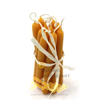 Weihnachtsbaumkerzen Bienenwachs handgezogen