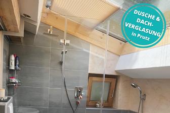 Dusche Glasdusche Dachverglasung in Prutz