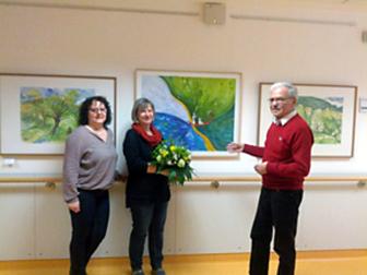 Dipl.-Grafik-Designerin Katharina Kerntopf auf der Ilmenauer Palliativstation