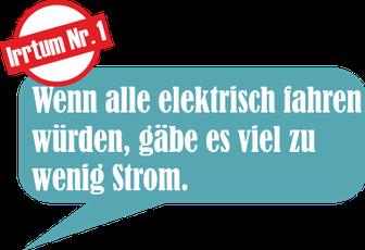 Wenn alle elektrisch fahren würden, gäbe es viel zu wenig Strom.