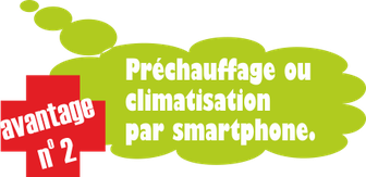 avantage no. 2: préchauffage ou climatisation par smartphone