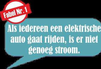 Fabel Nr. 1: Als iedereen een elektrische auto gaat rijden, is er niet genoeg stroom.