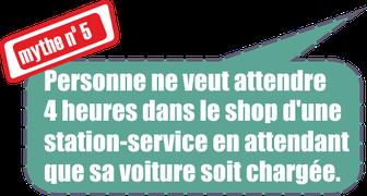 mythe no. 5: personne ne veut attendre 4 heures dans le shop d'une station-service en attendant que sa voiture soit chargée.