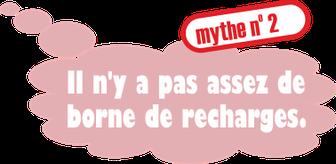 Mythe no. 2: Il n'y a pas assez de borne de recharges.
