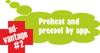 advantage no. 2: preheat and precool by app.