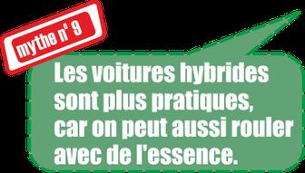 Mythe no. 9: Les voitures hybrides sont plus pratiques, car on peut aussi rouler aves de l'essence