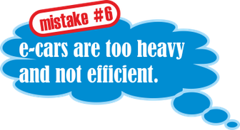 Mistake no. 6: e-cars are too heavy and not efficient.