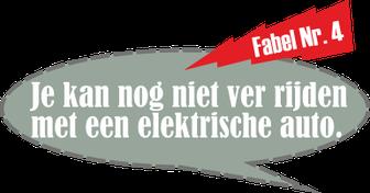 Fabel Nr. 4: Je kan nog niet ver rijden met een elektrische auto.