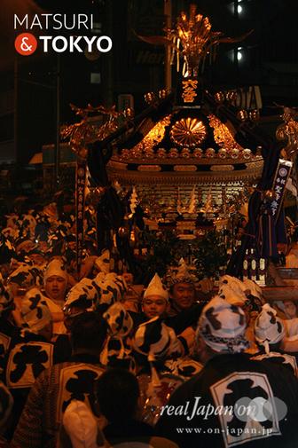 府中, 大國魂神社, くらやみ祭, 本社神輿渡御, 六之宮神輿, 写真, 千鳥帽子, 白丁