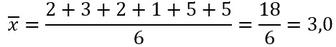 Beispiel für die Berechnung des Mittelwertes mithilfe des arithmetischen Mittels