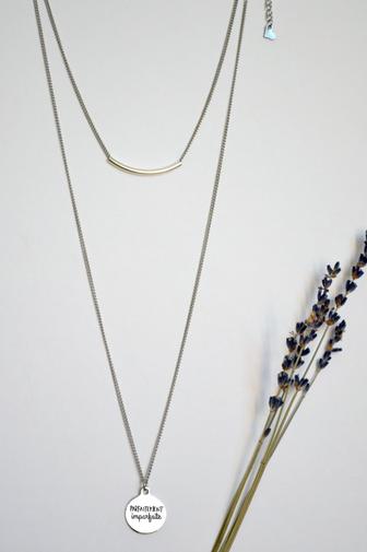 """Parfaitement Imparfaite"" minimalist necklace"