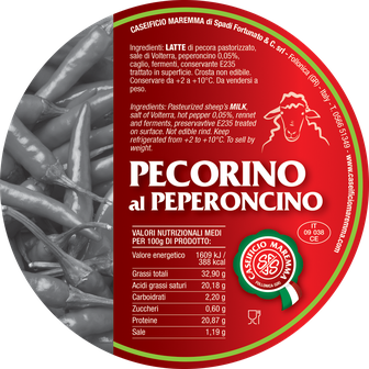maremma pecorino pecora formaggio caseificio toscano toscana spadi follonica etichetta italiano origine latte italia nuovi sapori saporito aromatiche aromatizzato stagionato peperoncino